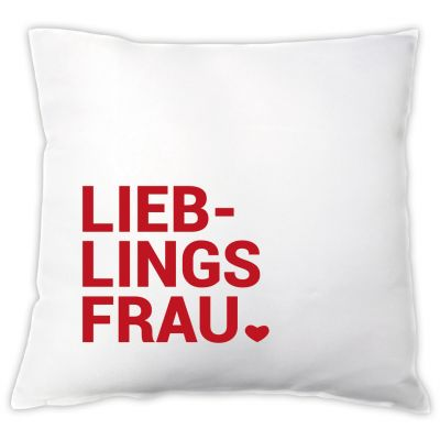 "Kissen ""Lieblingsfrau ♥"""
