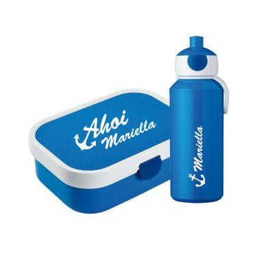 "Set ""Ahoi"" - Brotdose & Trinkflasche - personalisiert"