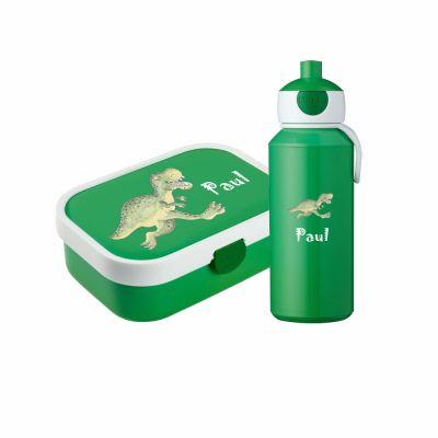 "Set ""Dino"" - Brotdose & Trinkflasche - personalisiert"
