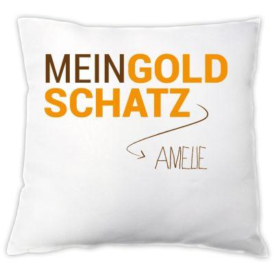 """Kissen """"Mein Goldschatz!"""" - personalisiert"""