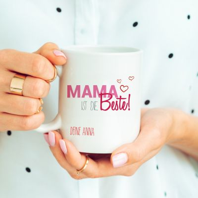 """Tasse """"Mama ist die Beste"""" - personalisiert"""