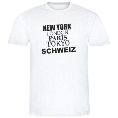 """T-Shirt New York, London, Switzerland"""" - Herren"""