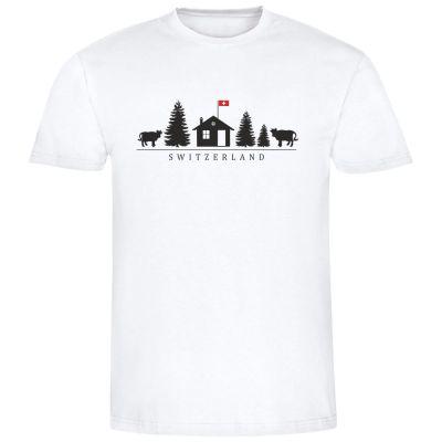 "T-Shirt ""Switzerland + Motiv"" - Herren"