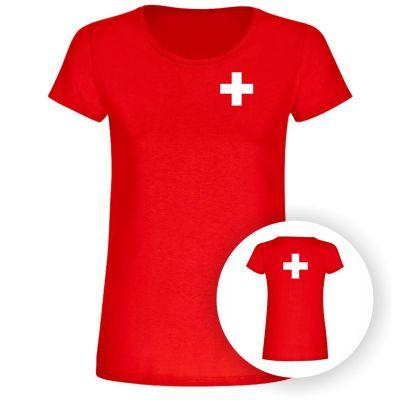 """T-Shirt """"Schweizer Flagge"""" - Damen"""