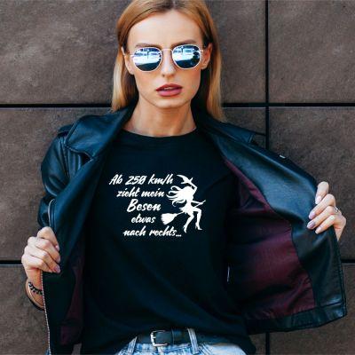 "Damen T-Shirt ""Ab 250 km/h"""