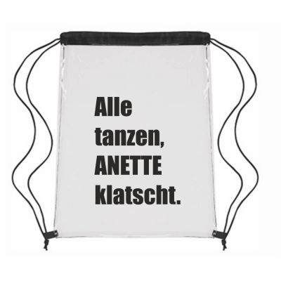 "Festival-Bag ""Alle tanzen, Anette klatscht"" - personalisiert"