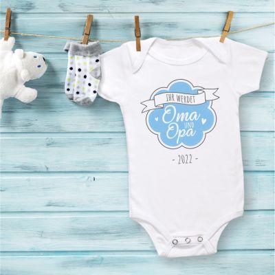 """Babybody """"Ihr werdet Oma und Opa"""" Design: Logo"""