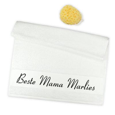 """Handtuch """"Beste Mama"""" - personalisiert"""