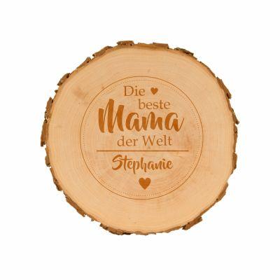 Baumscheibe für die beste Mama - personalisiert