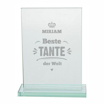 "Glaspokal ""Beste Tante der Welt"" - personalisiert"
