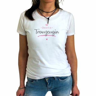 """Weißes T-Shirt """"Beste Trauzeugin"""""""