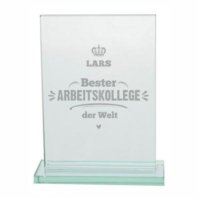 """Glaspokal """"Bester Arbeitskollege der Welt"""" - personalisiert"""