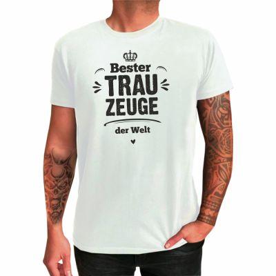 """T-Shirt """"Bester Trauzeuge der Welt"""" (Krone-Motiv)"""