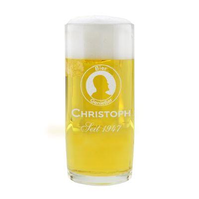 """Personalisierter Bierkrug """"Genießer"""" mit Logo - in verschiedenen Größen"""