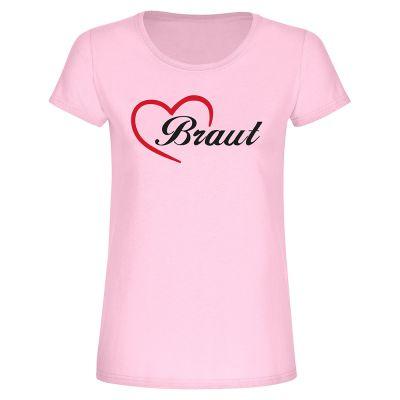 """T-Shirt """"Braut + Herz"""" - Damen"""