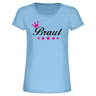 "T-Shirt ""Braut + Krone & Sternen"" - Damen"