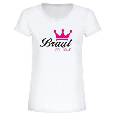 "T-Shirt ""Braut on Tour + Krone"" - Damen"