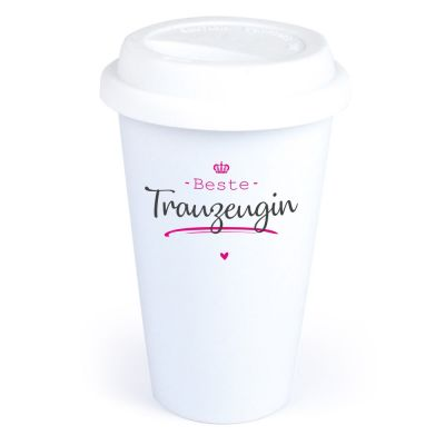 "Coffee-to-go Becher ""Beste Trauzeugin"""