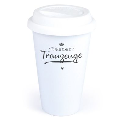 """Coffee-to-go Becher """"Bester Trauzeuge"""""""