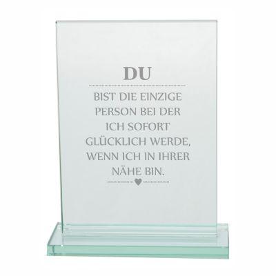 """Edler Glaspokal """"DU bist die einzige Person"""""""