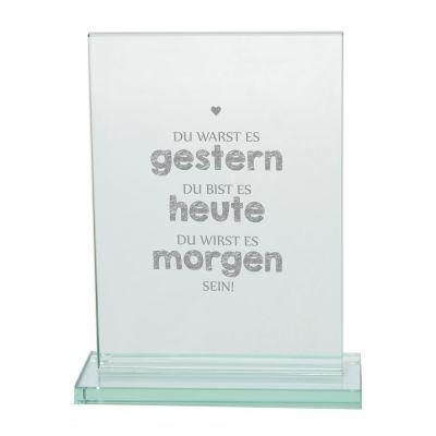 "Edler Glaspokal ""Gestern - Heute - Morgen"""