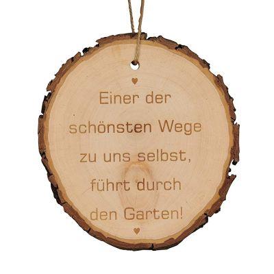 """Baumscheibe """"Einer der schönsten Wege zu uns selbst, führt durch den Garten."""""""