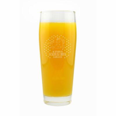 """Trinkglas """"Auf dem Boden der Tatsachen liegt eindeutig zu wenig Glitzer!"""""""