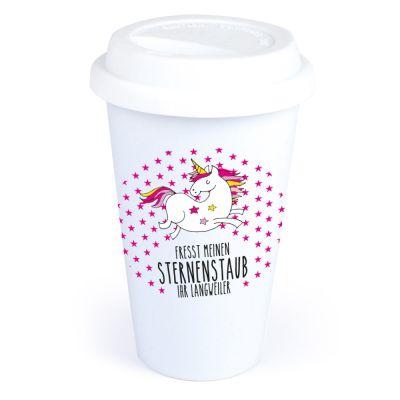 """Coffee-to-go Becher """"Fresst meinen Sternenstaub Ihr Langweiler"""""""