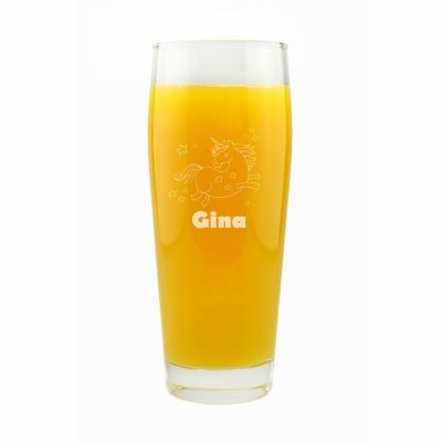 """Trinkglas """"Einhorn"""" mit Namen"""