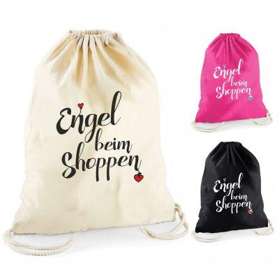 """Statement-Turnbeutel """"Engel beim Shoppen"""""""