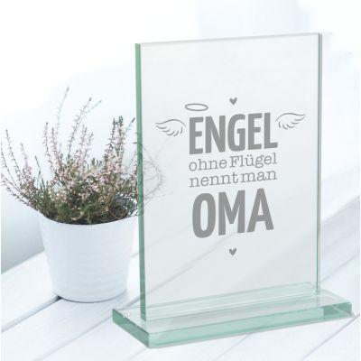 """Glaspokal """"Engel ohne Flügel nennt man Oma"""""""