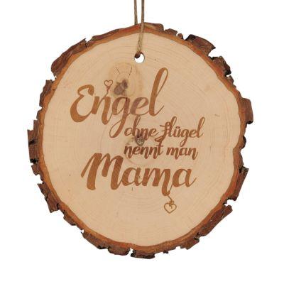 """Baumscheibe """"Engel ohne Flügel nennt man Mama"""""""