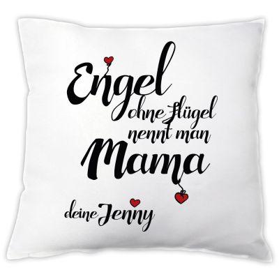 """Kissen """"Engel ohne Flügel nennt man Mama"""" - personalisiert"""