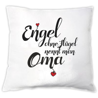 "Kissen ""Engel ohne Flügel nennt man Oma"""