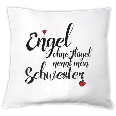 """Kissen """"Engel ohne Flügel nennt man Schwester"""""""