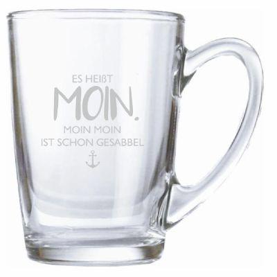 "Teeglas ""Es heißt Moin. Moin moin ist schon gesabbel."" (Anker)"