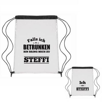 """Festival-Bag Set """"Falls ich betrunken bin bringt mich zu"""" - personalisiert"""