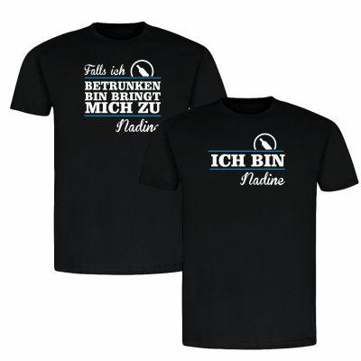 """T-Shirt SET """"Falls ich betrunken bin…"""""""