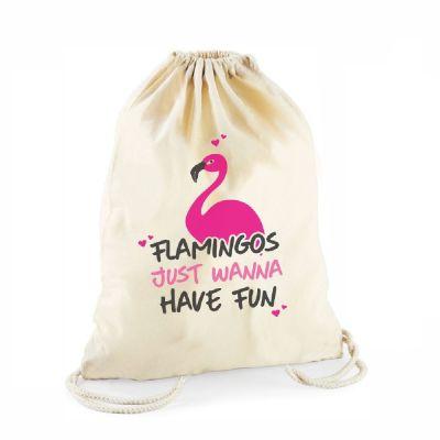 """Statement-Turnbeutel """"Flamingos just wanna have fun"""""""