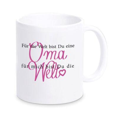 """Tasse """"Für mich bist du die Welt""""- Oma"""