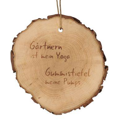 """Baumscheibe """"Gärtnern ist mein Yoga - Gummistiefel meine Pumps"""""""