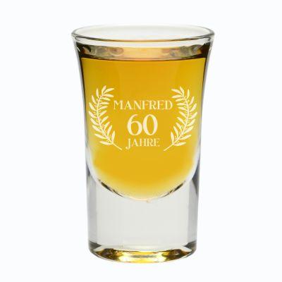 Schnapsglas zum Geburtstag - personalisiert