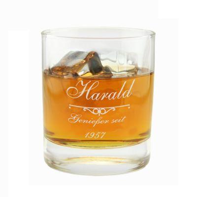 """Whiskyglas """"Genießer seit"""" - personalisiert"""