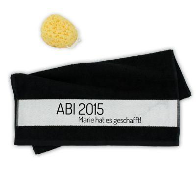 "Handtuch ""ABI geschafft!"" - personalisiert"