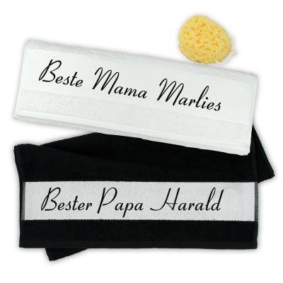 "Handtuch-Set ""Beste Mama & Bester Papa"" - personalisiert"