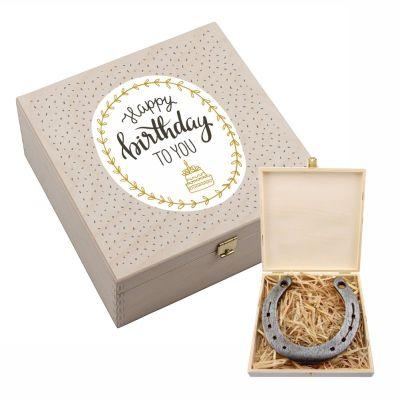 """Hufeisen-Box """"Happy Birthday to you"""""""