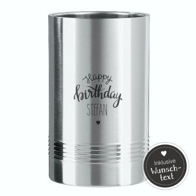 Flaschenkühler zum Geburtstag - personalisiert