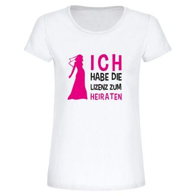 """T-Shirt """"Heiratslizenz"""" - Damen"""