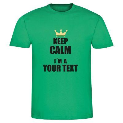 """T-Shirt """"Keep calm I am a -"""" - personalisiert - Herren"""