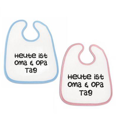 """Lätzchen """"Oma und Opa - Tag"""" (Farbe: rosa oder blau)"""